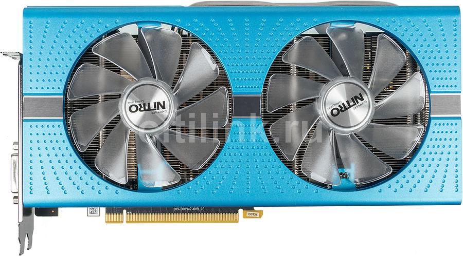 Видеокарта SAPPHIRE AMD  Radeon RX 580 ,  11265-21-20G NITRO+ RX 580 8G,  8Гб, GDDR5, OC,  Ret