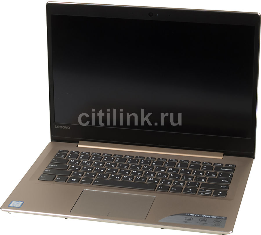 "Ноутбук LENOVO IdeaPad 520S-14IKB, 14"", Intel  Core i3  7100U 2.4ГГц, 4Гб, 256Гб SSD,  Intel HD Graphics  620, Windows 10, 80X200F2RK,  золотистый"