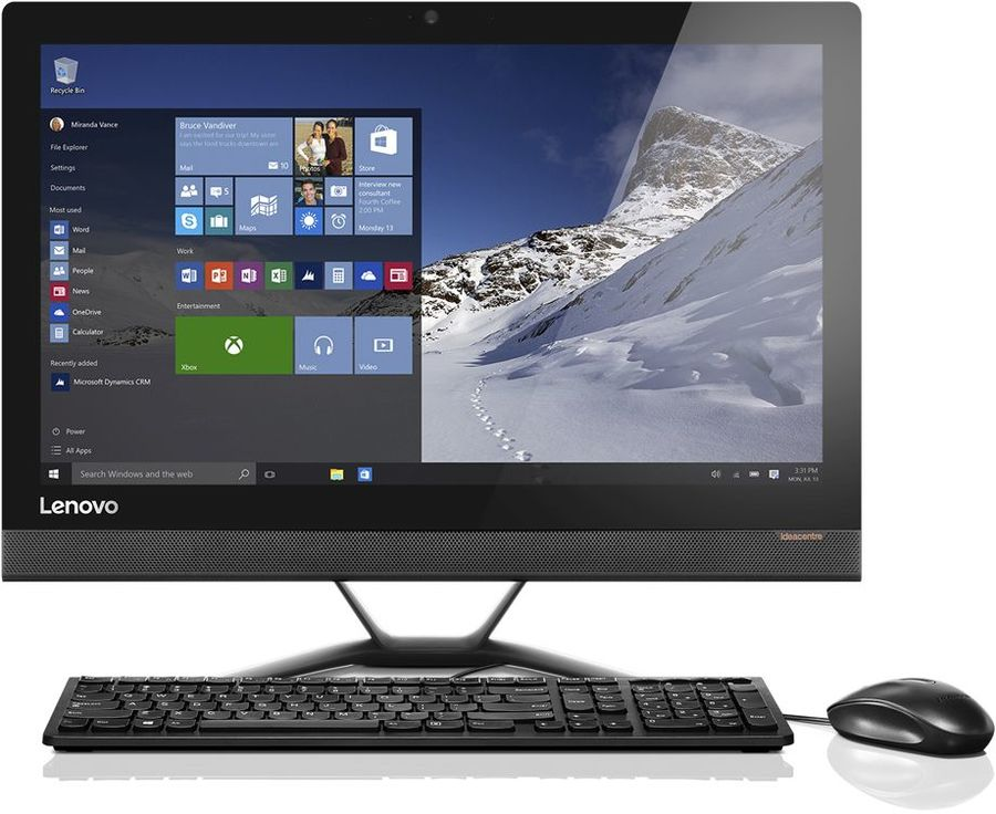 "Моноблок LENOVO IdeaCentre 300-23ISU, 23"", Intel Core i3 6006U, 8Гб, 1000Гб, Intel HD Graphics 520, DVD-RW, Windows 10, черный [f0by00n4rk]"