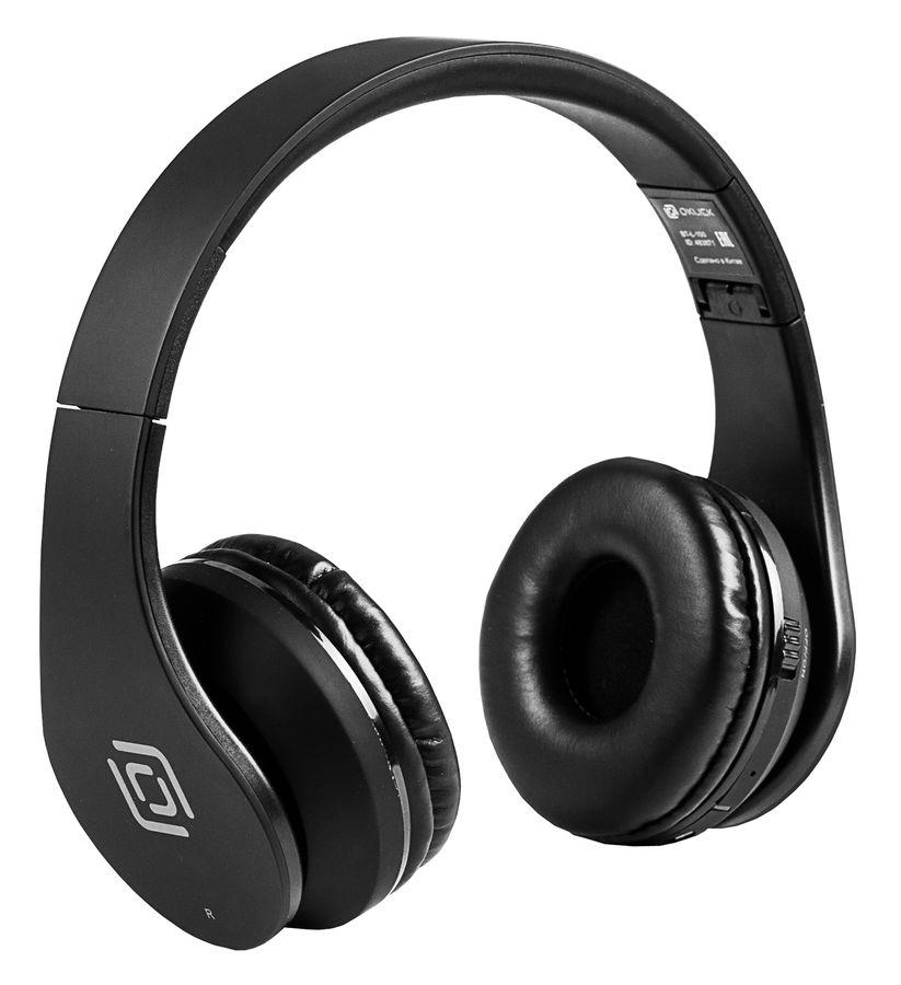 Наушники с микрофоном OKLICK BT-L-100, 3.5 мм/Bluetooth, накладные, черный [bh136]