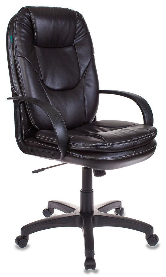 Кресло руководителя БЮРОКРАТ CH-1868, на колесиках, искусственная кожа, черный [ch-1868/#b]