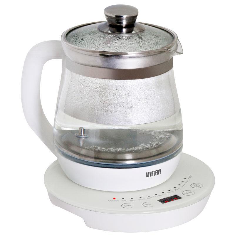 Чайник электрический MYSTERY MEK-1641, 800Вт, белый