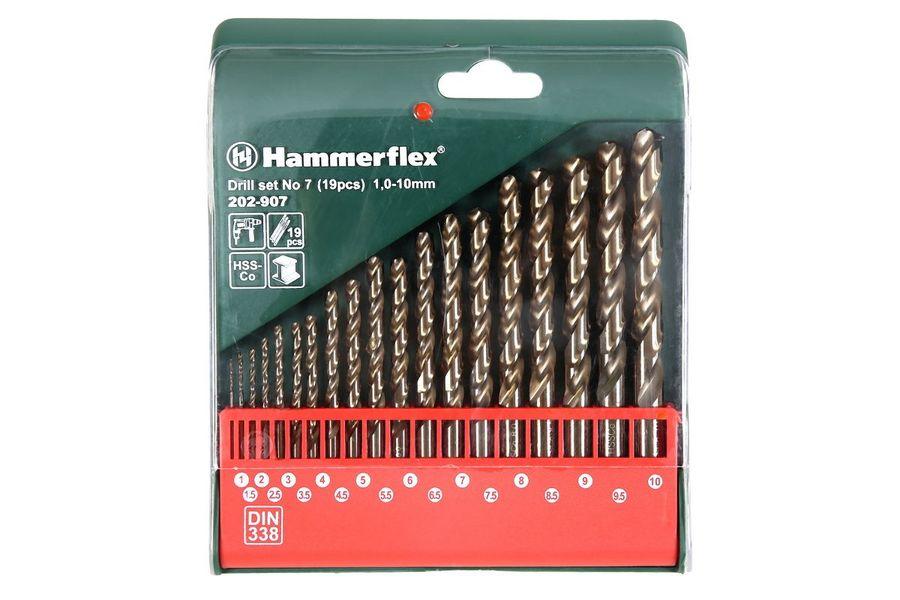 Набор сверл HAMMER Flex 202-907 DR,  по металлу,  19шт [37076]