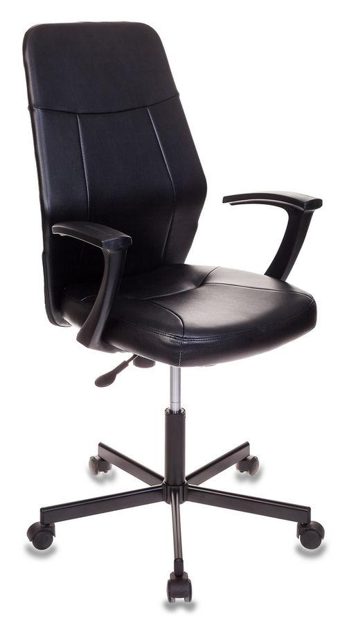 Кресло БЮРОКРАТ CH-605, на колесиках, искусственная кожа, черный [ch-605/black]
