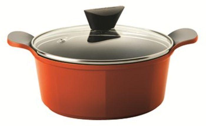 Кастрюля FRYBEST Orange ORCV-C24 Orange, 4.5л, с крышкой,  оранжевый