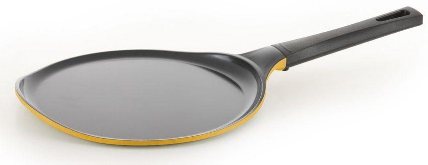 Сковорода блинная FRYBEST Rainbow CM-C26 Rainbow Y, 26см, без крышки,  желтый