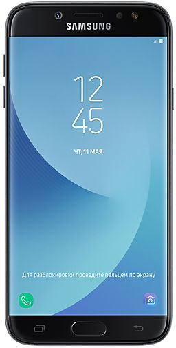 Смартфон SAMSUNG Galaxy J7 (2017) 16Gb, SM-J730, черный смартфон samsung galaxy j5 2017 16gb sm j530fm ds черный