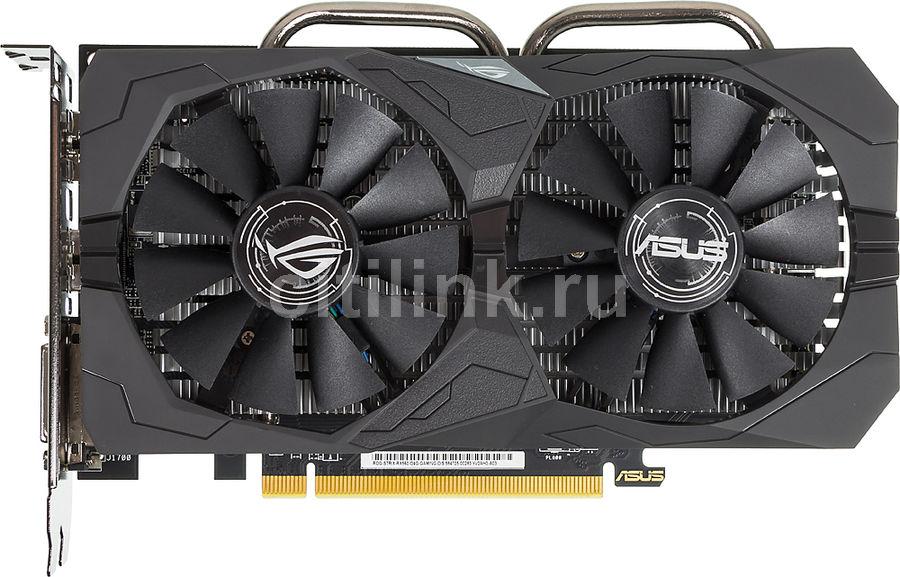 Видеокарта ASUS AMD  Radeon RX 560  (16CU),  ROG-STRIX-RX560-O4G-GAMING,  4Гб, GDDR5, OC,  Ret
