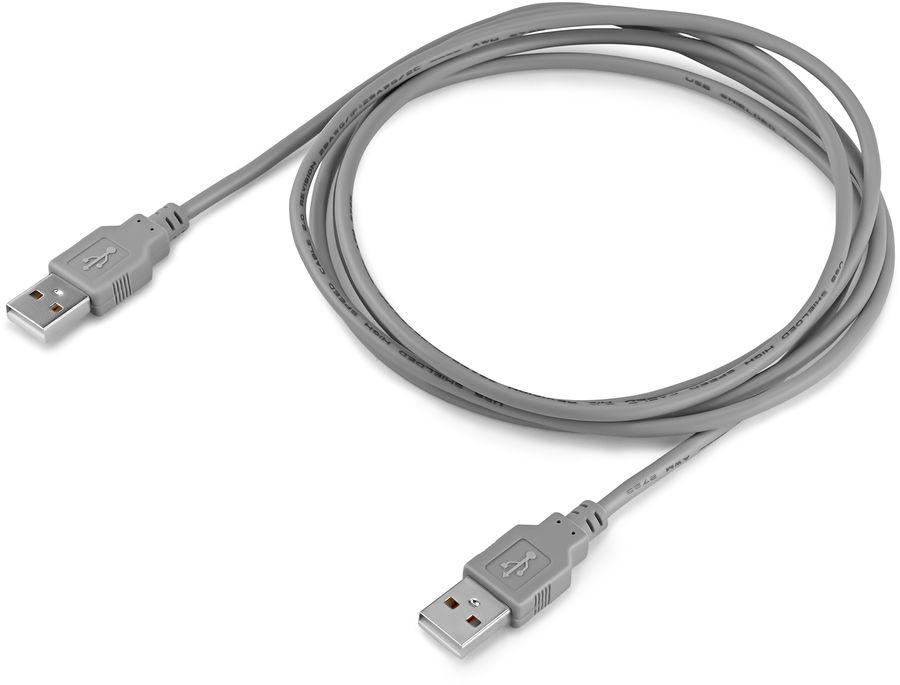 Кабель USB2.0 BURO USB A(m) -  USB A(m),  1.8м,  блистер,  серый [bhp ret usb_am18]