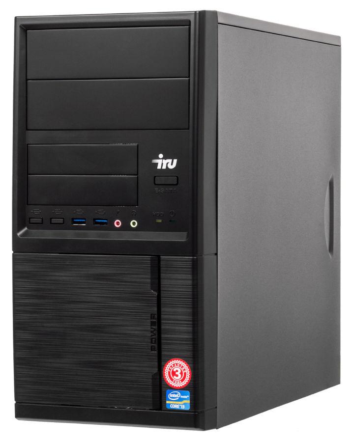 Компьютер  IRU Office 510,  Intel  Core i5  7400,  DDR4 4Гб, 1Тб,  Intel HD Graphics 630,  Windows 10 Home,  черный [485586]