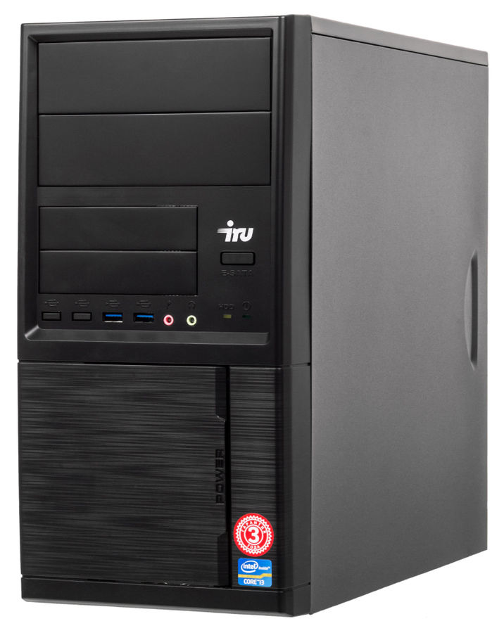 Компьютер  IRU Office 510,  Intel  Core i5  7400,  DDR4 8Гб, 1Тб,  Intel HD Graphics 630,  Free DOS,  черный [485600]