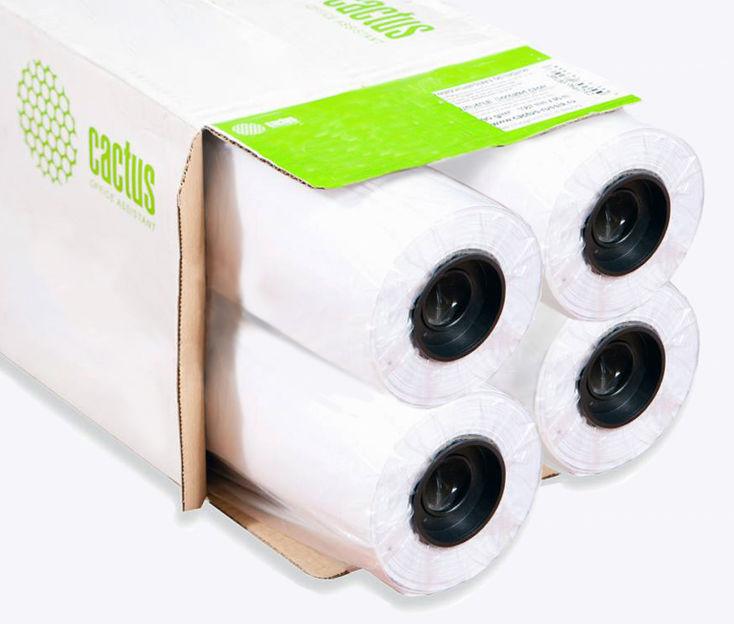 """Бумага Cactus Eco CS-LFP80-610457E-4 610мм-45м/80г/м2 универсальная втулка:50.8мм (2"""") (упак.:4рул)"""