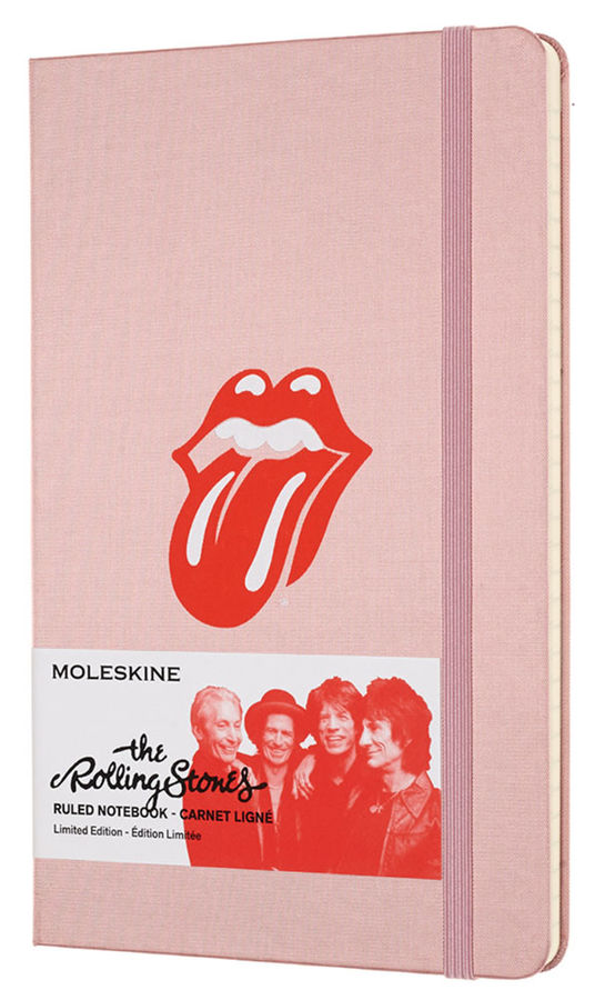 Блокнот Moleskine Limited Edition ROLLING STONES Large 130х210мм 240стр. линейка розовый [lersqp060pk] new mf8 eitan s star icosaix radiolarian puzzle magic cube black and primary limited edition very challenging welcome to buy