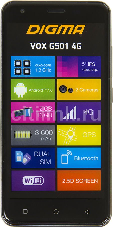 Смартфон DIGMA G501 4G VOX,  черный