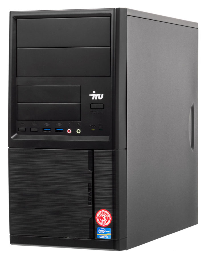 Компьютер  IRU Office 321,  AMD  A4  6300,  DDR3 4Гб, 1000Гб,  AMD Radeon HD 8370D,  Windows 10 Home,  черный [485752]