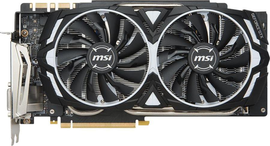 Видеокарта MSI nVidia  GeForce GTX 1080Ti ,  GeForce GTX 1080 Ti ARMOR 11G,  11Гб, GDDR5X, Ret