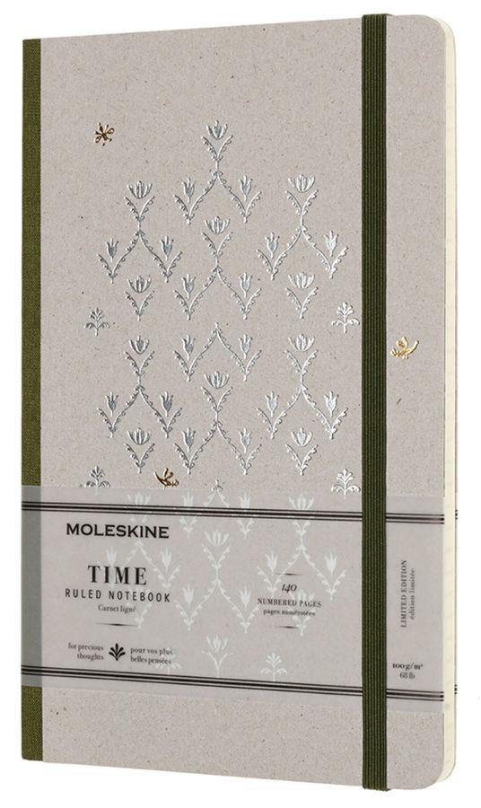 Блокнот Moleskine Limited Edition TIME NOTEBOOKS Large 130х210мм обложка картон 140стр. линейка зеле [lctm31k]