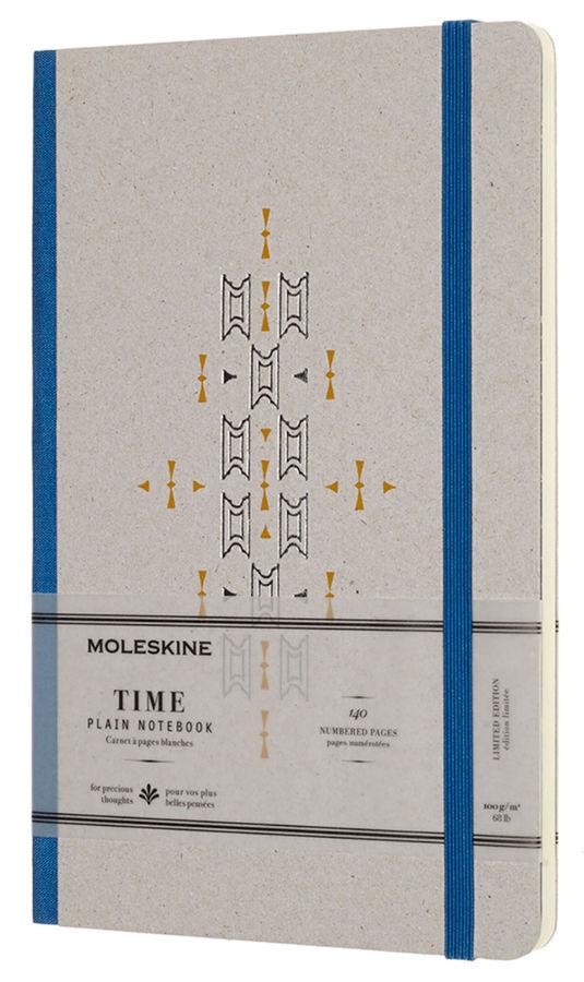 Блокнот Moleskine LE TIME NOTEBOOKS Large 130х210мм обложка картон 140стр. линейка синий