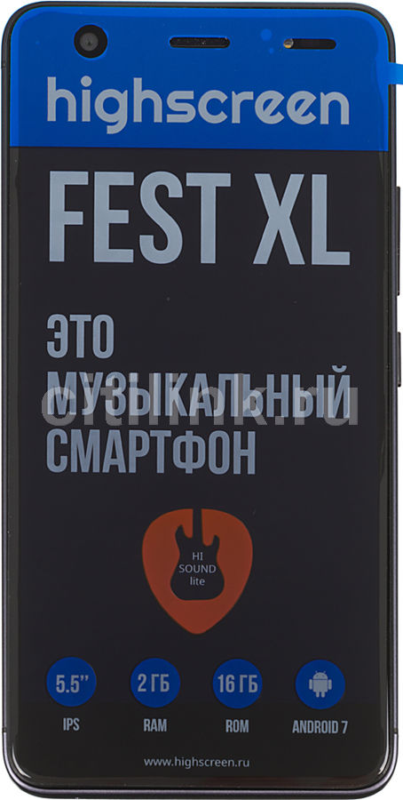 Смартфон HIGHSCREEN Fest XL, черный