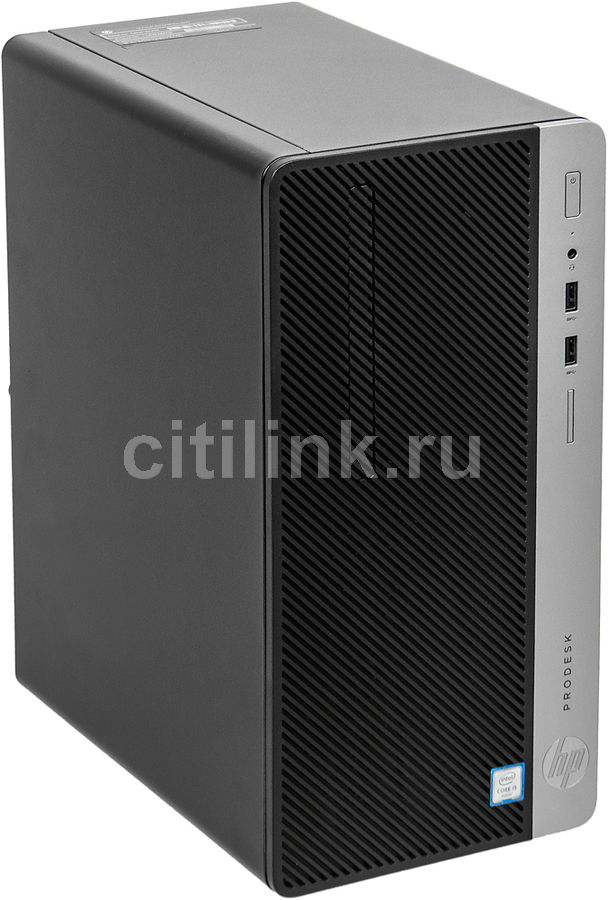 Компьютер HP ProDesk 400 G4, Intel Core i3 7100, DDR4 4Гб, 500Гб, Intel HD Graphics 630, DVD-RW, Free DOS, черный [1jj53ea] компьютер hp pavilion 570 p001ur intel core i3 7100 ddr4 4гб 256гб ssd intel hd graphics 630 dvd rw free dos 2 0 серебристый и черный [1zp75ea]