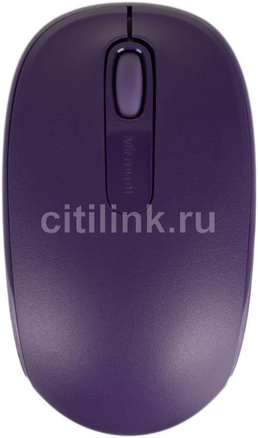 Мышь MICROSOFT Mobile Mouse 1850, оптическая, беспроводная, USB, фиолетовый [u7z-00044]