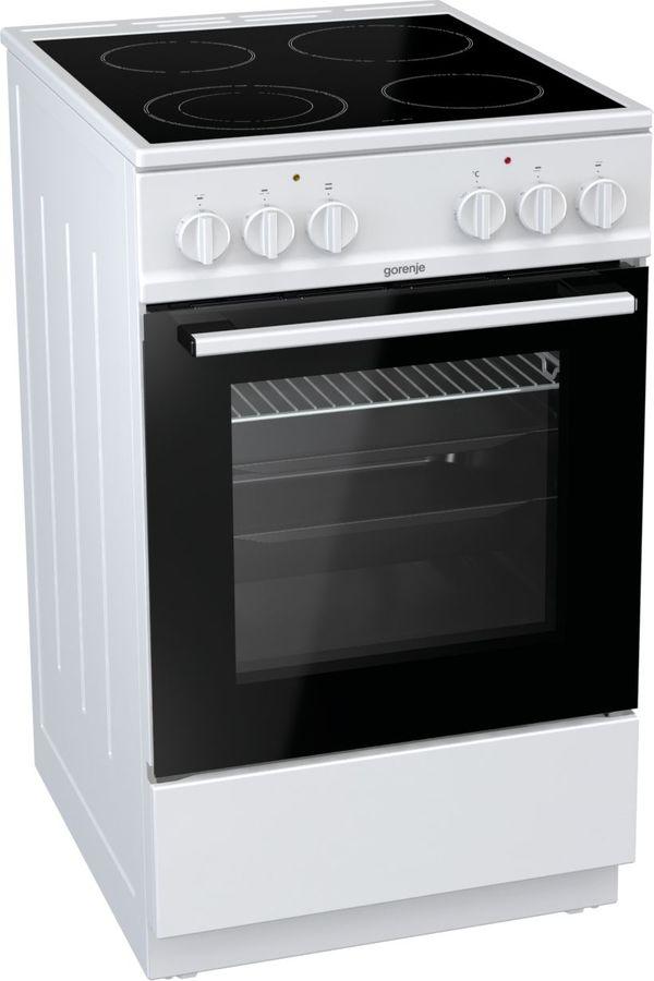 Электрическая плита GORENJE EC5121WF,  стеклокерамика,  белый