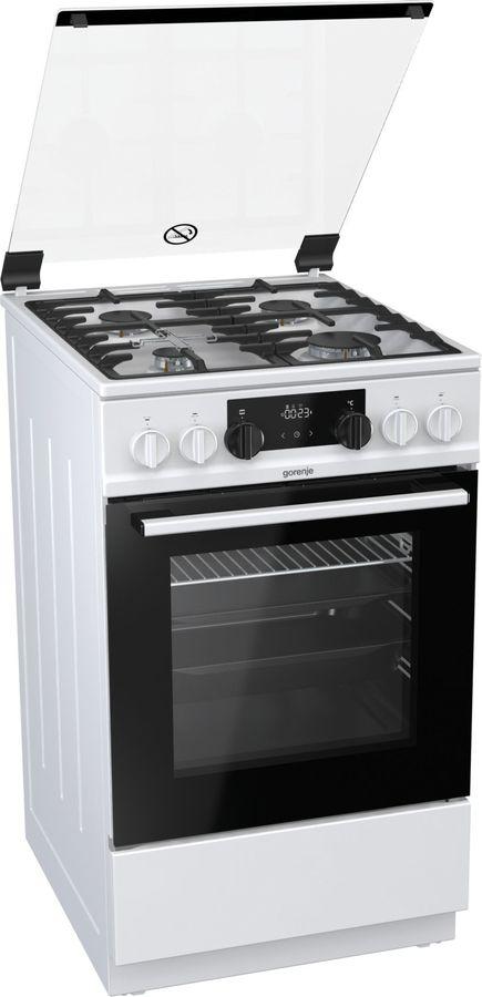 Газовая плита GORENJE K5341WF,  электрическая духовка,  белый