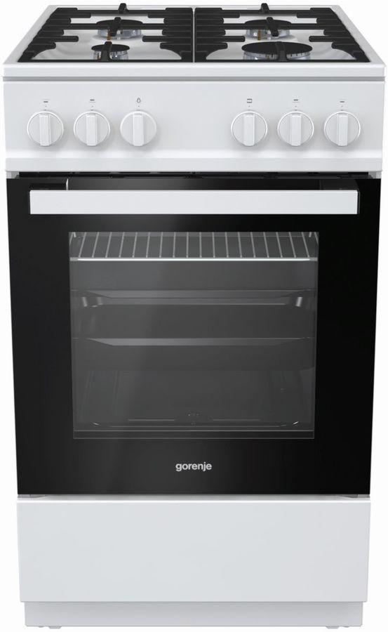 Газовая плита GORENJE GN5112WF-B,  газовая духовка,  белый