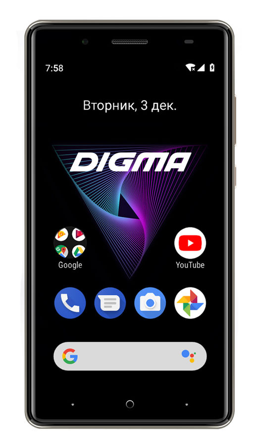Смартфон DIGMA Q500 3G HIT, серый смартфон micromax q346 lite grey 4 5 854x480 fm радио bluetooth wi fi 3g android 5 1 1700 ма ч
