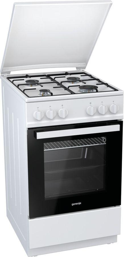 Газовая плита GORENJE GN5112WJ-B,  газовая духовка,  белый