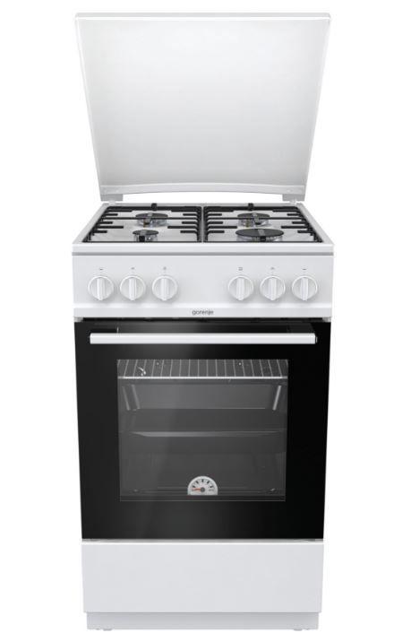 Газовая плита GORENJE GN5112WH,  газовая духовка,  белый
