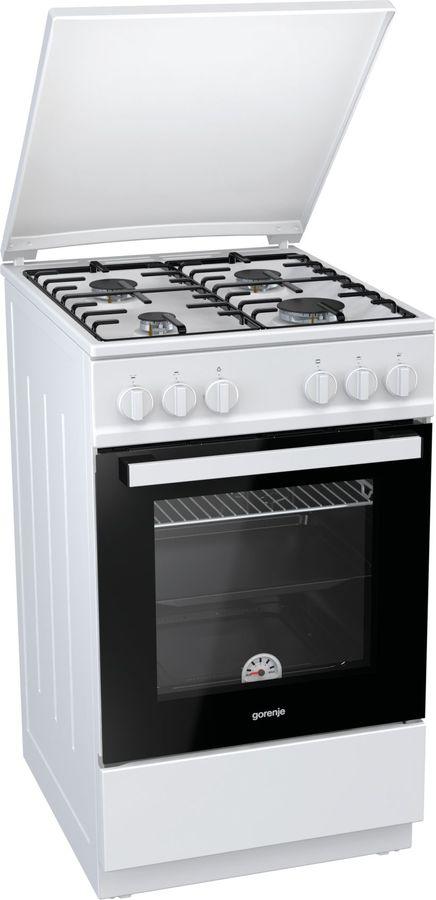 Газовая плита GORENJE GN5111WH-B,  газовая духовка,  белый