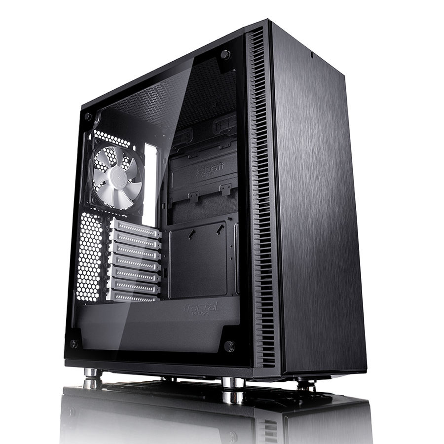 Корпус ATX FRACTAL DESIGN Define C TG, Midi-Tower, без БП, черный корпус matx fractal design define mini c tg mini tower без бп черный