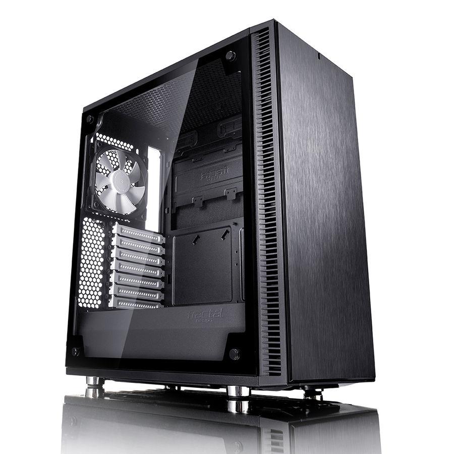 Корпус ATX FRACTAL DESIGN Define C TG, Midi-Tower, без БП,  черный