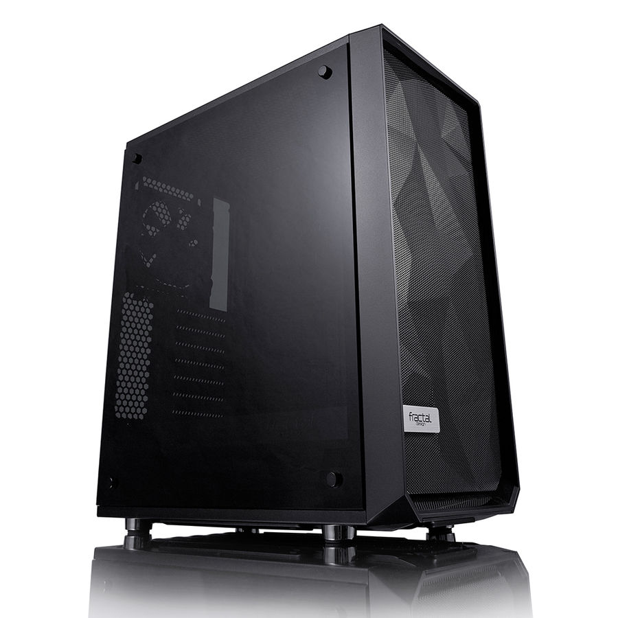 Корпус ATX FRACTAL DESIGN Meshify C Blackout TG, Midi-Tower, без БП, черный корпус matx fractal design define mini c tg mini tower без бп черный