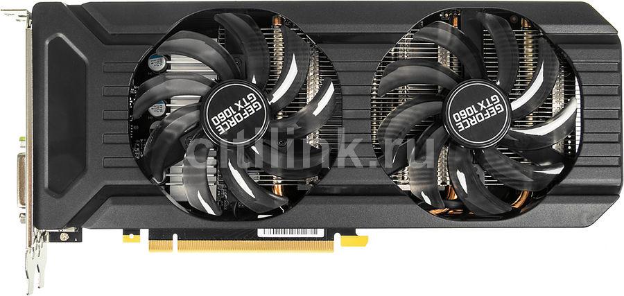 Видеокарта PALIT nVidia  GeForce GTX 1060 ,  PA-GTX1060 DUAL 3G,  3Гб, GDDR5, Bulk [ne51060015f9-1061d bulk]