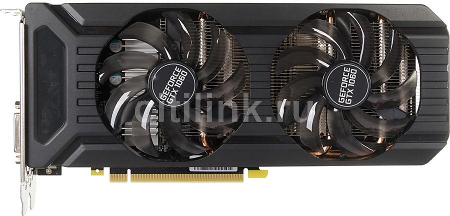 Видеокарта PALIT nVidia  GeForce GTX 1060 ,  PA-GTX1060 DUAL 6G,  6Гб, GDDR5, Bulk [ne51060015j9-1061d bulk]