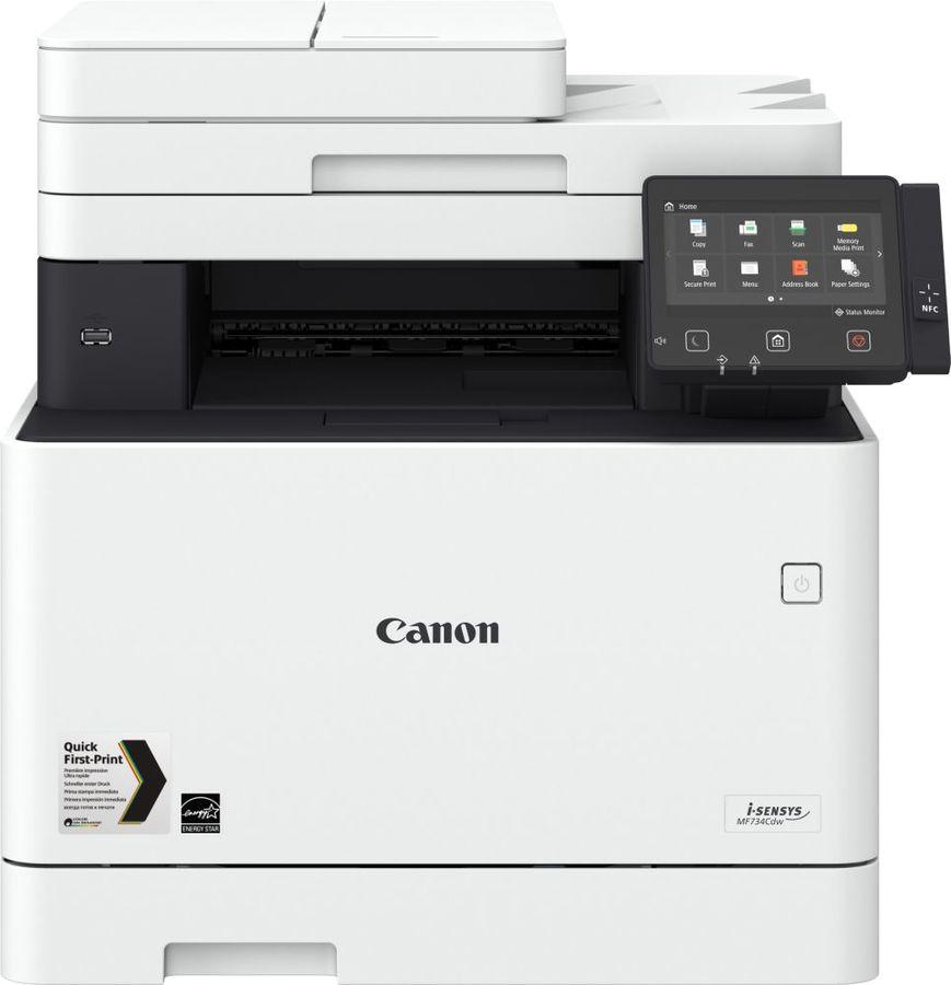 МФУ лазерный CANON i-Sensys Colour MF734Cdw,  A4,  цветной,  лазерный,  белый [1474c028]