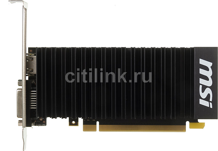 Видеокарта MSI GeForce GT 1030,  GT 1030 2GH LP OCV1,  2Гб, GDDR5, Low Profile,  OC,  Ret