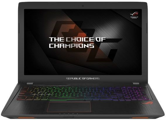 Ноутбук ASUS ROG GL553VE-FY037T, 15.6, Intel Core i7 7700HQ, 2.8ГГц, 8Гб, 1000Гб, 128Гб SSD, nVidia GeForce GTX 1050 Ti - 4096 Мб, DVD-RW, Windows 10, черный [90nb0dx3-m01580]Ноутбуки<br>экран: 15.6;  разрешение экрана: 1920х1080; процессор: Intel Core i7 7700HQ; частота: 2.8 ГГц (3.8 ГГц, в режиме Turbo); память: 8192 Мб, DDR4; HDD: 1000 Гб, 5400 об/мин; SSD: 128 Гб; nVidia GeForce GTX 1050 Ti - 4096 Мб; DVD-RW; WiFi;  Bluetooth; HDMI; WEB-камера; Windows 10<br><br>Линейка: ROG