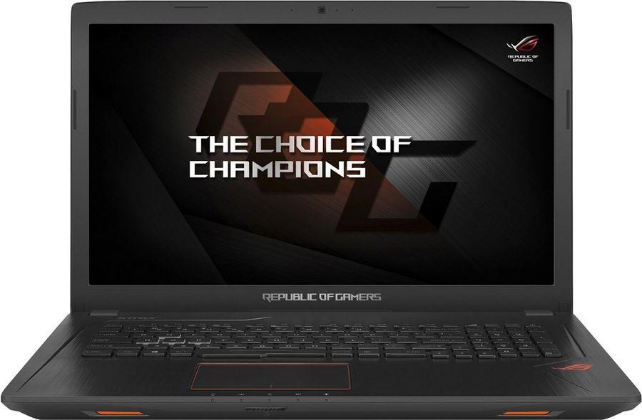 """Ноутбук ASUS ROG GL753VE-GC137T, 17.3"""", Intel  Core i7  7700HQ 2.8ГГц, 12Гб, 1000Гб, 256Гб SSD,  nVidia GeForce  GTX 1050 Ti - 4096 Мб, Windows 10, 90NB0DN2-M02050,  черный"""
