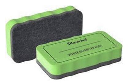 Стиратель для досок Silwerhof 659004-02 фетр зеленый магнитный