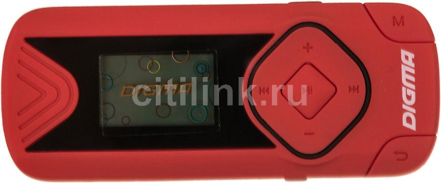 MP3 плеер DIGMA R3 flash 8Гб красный [r3cr]