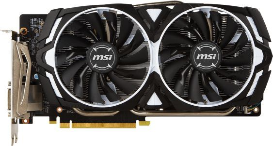 Видеокарта MSI nVidia  GeForce GTX 1060 ,  GeForce GTX 1060 ARMOR 6G V1,  6Гб, GDDR5, Ret