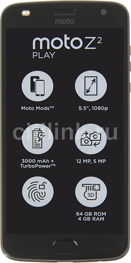 Смартфон MOTOROLA Z2 PLAY 64Gb,  XT1710-09,  серый