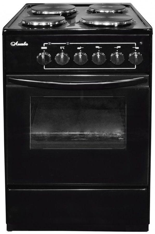 Электрическая плита ЛЫСЬВА ЭП 401 СТ,  эмаль,  черный