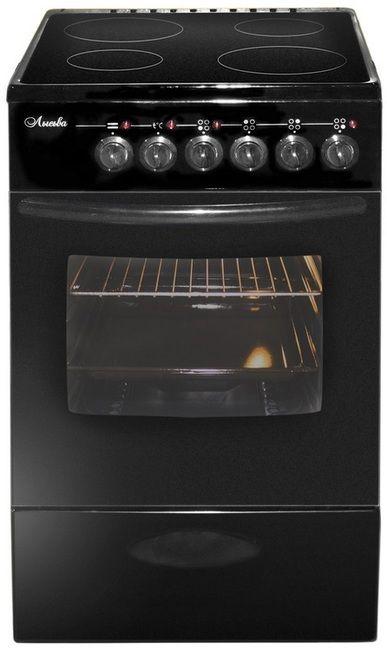 Электрическая плита ЛЫСЬВА ЭПС 411 МС,  стеклокерамика,  черный