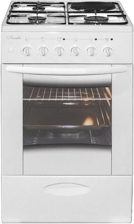 Газовая плита ЛЫСЬВА ЭГ 1/3г01 МС-2у,  электрическая духовка,  белый