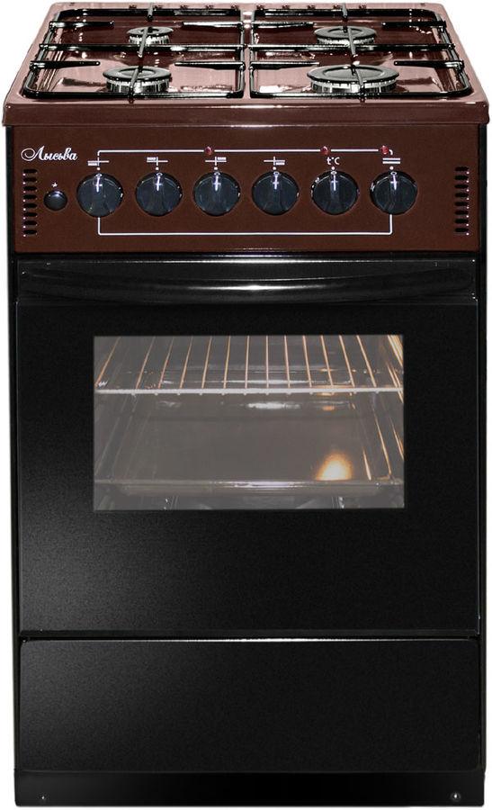 Газовая плита ЛЫСЬВА ЭГ 401-2у,  электрическая духовка,  коричневый