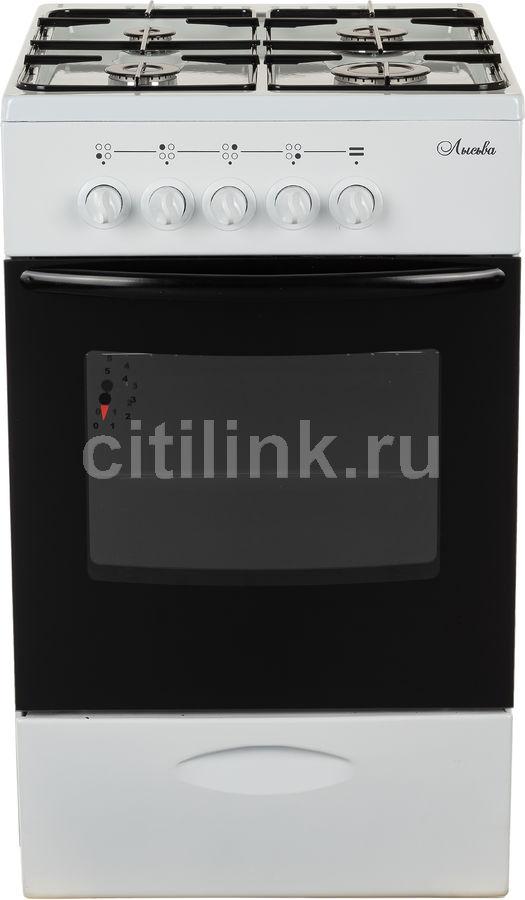 Газовая плита ЛЫСЬВА ГП 400 МС СТ-2у,  газовая духовка,  белый